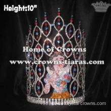 10in Height Crystal Snow White Pageant Princess Crowns