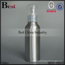 100ml silver mist spray aluminum bottle for sale, cosmetic aluminum bottle, cosmetic packaging container bottles