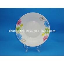 Белая тарелка для супов и фруктовая тарелка для персонализированных керамических пластин
