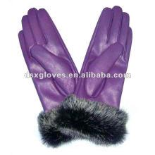 Graciosos guantes de cuero de moda