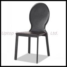 Chaise de salle à manger en cuir et en métal ovale à dos (SP-LC276)