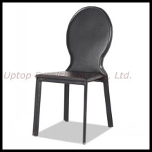 Oval Back Leather and Metal Restaurant Dining Chair (SP-LC276)