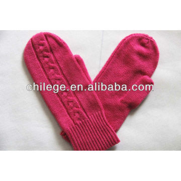 ladies cashmere knitted one finger gloves mittens