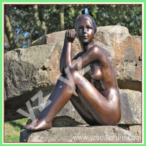 Hot Sale Bronze Garden Statues Lady Statues For Sale