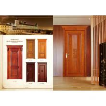 Blanco Escalera Interior de la habitación Puerta de madera