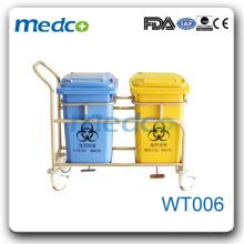 WT006 Chariot en plastique pour déchets hospitaliers
