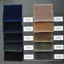 veludo de algodão e tecido de veludo para peças de vestuário em estoque