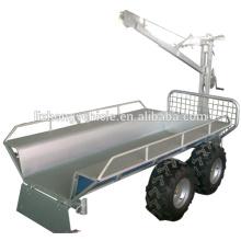 China Großhandel Kran Holz Anhänger, Log-Ladewagen, Log-trailer