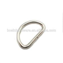 Moda Alta Qualidade Metal 25mm Aço Inoxidável D Anel