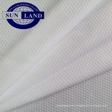 100 tejido de malla de nido de abeja de poliéster con coolpass para camisa deportiva