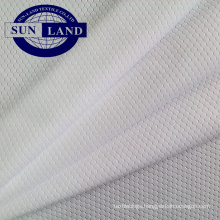 100 polyester coolpass wicking honeycomb mesh fabric for sport shirt