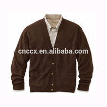 15PKCAS19 100% cashmere knit winter thick sweater for man