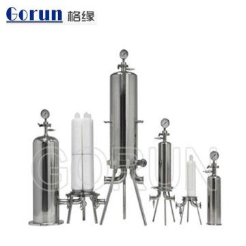 Корпус фильтра воды сразу сердечника фабрики сразу высокий очищенный нержавеющей стали одиночный для жидкостной системы обработки