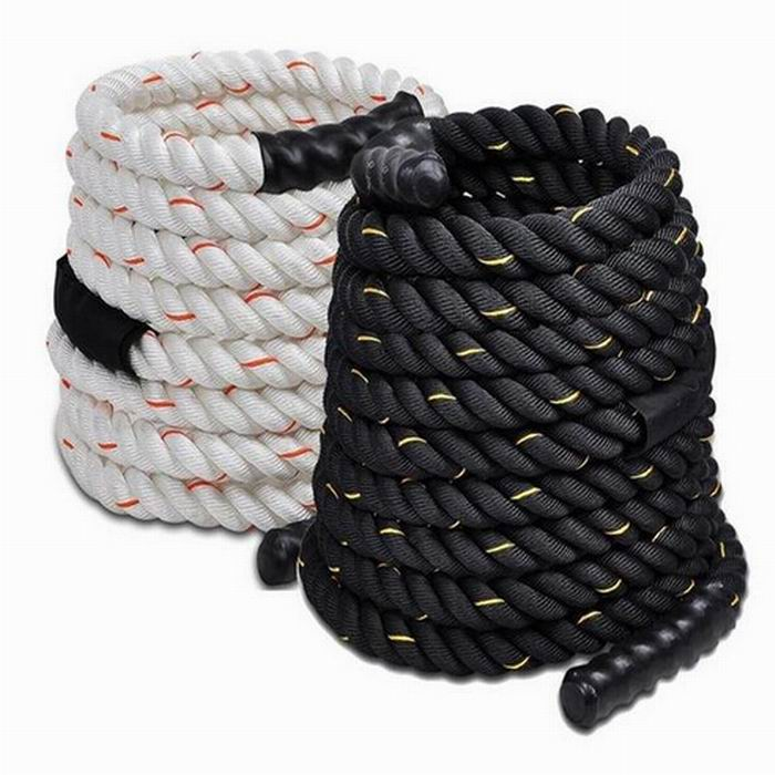 PP Rope White and Black Mooring Rope