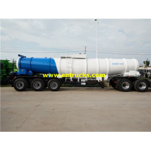 17m3 19ton H2SO4 Delivery 탱커 트레일러