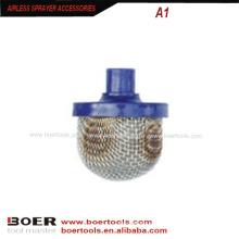 Безвоздушный краскораспылитель с фильтром для жидкости