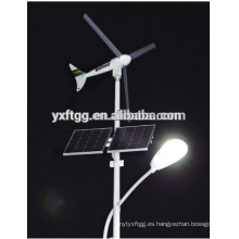 Solar, sistema, llevado, poste, viento, turbina, solar, energía, energía, calle, luz, acero, poste