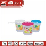 Wholesale custom plastic homeware jar spice container food candy box with lid
