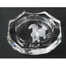 Cenicero de cristal de cigarro de grabado láser de caballo de diseño nuevo (JD-YG-009)
