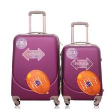 Mala plástica da bagagem do trole do curso do caso duro do ABS
