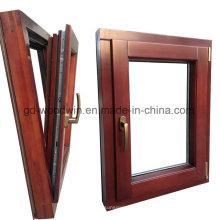 Твердое деревянное окно с стеклом / тонированным стеклом / покрытием из стекла с низким E