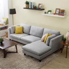 3-Piece Fabric Reclining Sectional Sofa With Chaise