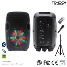 Profissional 8 polegadas caixa de alto-falante portátil com programa de luz RGB