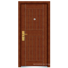 Puerta de acero exterior de madera (FXGM-C321)