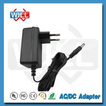 Adaptador de energia europeu com 5,5 * 2.1mm dc plug
