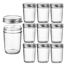 8oz  round glass mason jar regular mouth glass mason jars 8 ounce