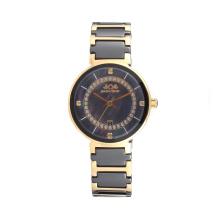 2017 Badatong горячая распродажа Кварцевые нержавеющей стали и керамические часы дамы перламутровый Циферблат