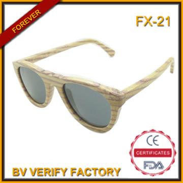 FX-21 Natural atacados artesanais de madeira óculos de sol