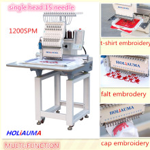 HOLIAUMA Closed to TAJIMA Single Head High Speed Computer Operation Embroidery Machine With 15 Colors
