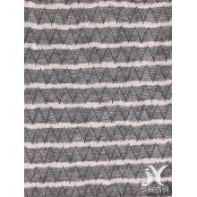 Tecido de malha de suéter listrado