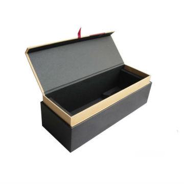 Caixa de transporte de embalagens de vinho de papel de luxo com logotipo