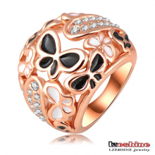 Enamel Butterfly Rings Pave Austrian Crystals Anillos Ring (Ri-HQ0210)