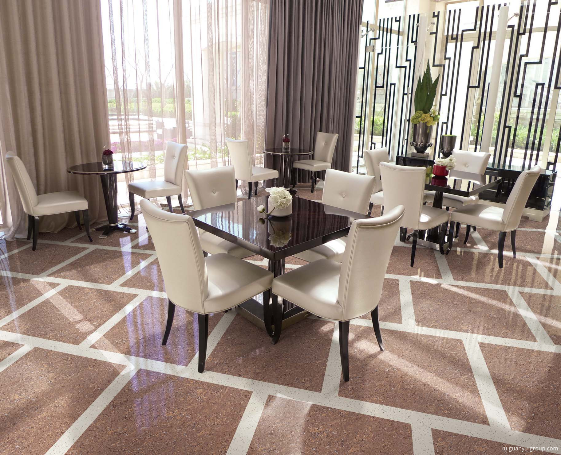 Luxury Crystal Double-Loading Polished Porcelain Tile