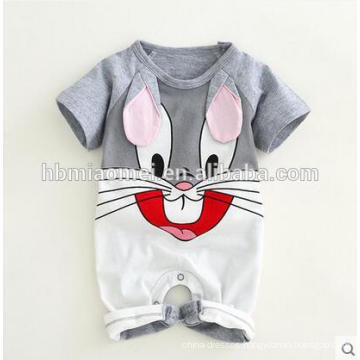 2017 New Design Baby Clothes Romper Organic Cotton Summer Baby Romper