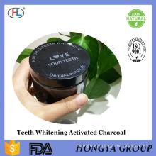 O carvão de coco natural do produto comestível ativou os dentes do preto de carbono do carvão vegetal que Whitening o pó