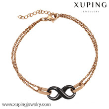 74416-xuping mode 18 karat gold stahlarmband designs für mädchen