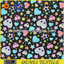 printed textile upholstery fabric hearts and stars
