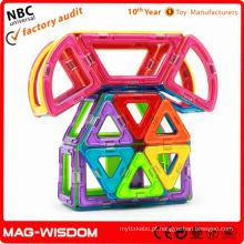Peça de construção magnética brinquedo bloco de construção