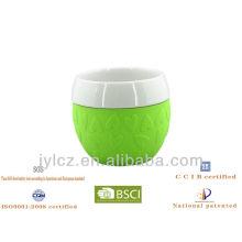 mug with silicone sleeve,set of 2