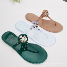 Named Designer summer flat women shoes hot sale jelly sandals for ladies girl fashion jelly shoes big size 11 flip flop slippers