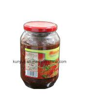 Pasta de tomate em jarra de vidro com alta qualidade