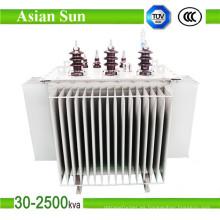 Transformador de distribución de energía sumergida en aceite 6kv / 10kv / 22kv / 35kv
