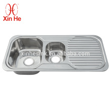 Küchen-Spülbecken aus Edelstahl 304 mit Abtropfbrett