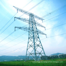 500kv Transmisión de energía de doble circuito Torre de tubo de acero lineal
