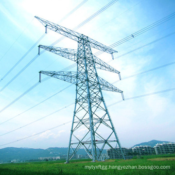 500kv Double Circuit Power Transmission Linear Steel Tube Tower