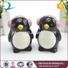 Cute ceramic QQ salt and pepper shaker for kid
